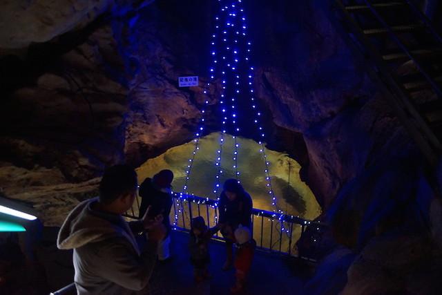 龍河洞キャンドルナイト2014 池が綺麗