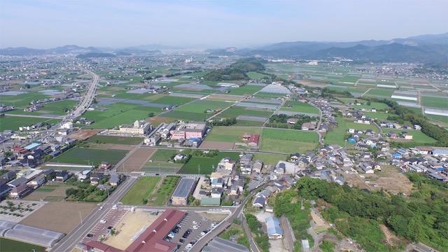 土佐山田町の空撮3