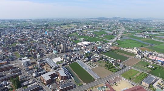土佐山田町の空撮4