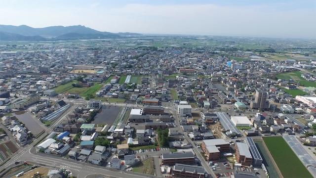 土佐山田町の空撮1