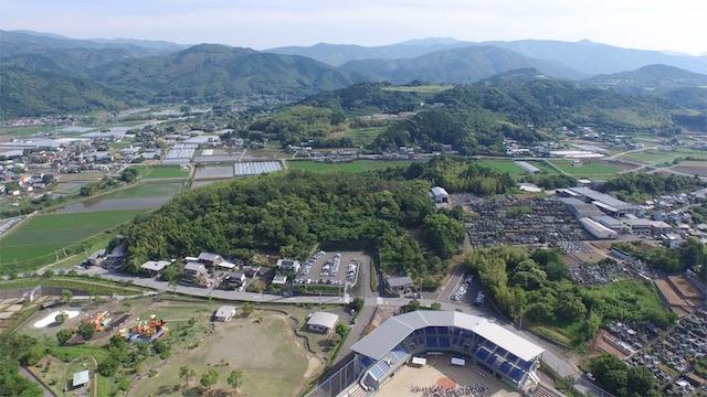 土佐山田町の空撮2