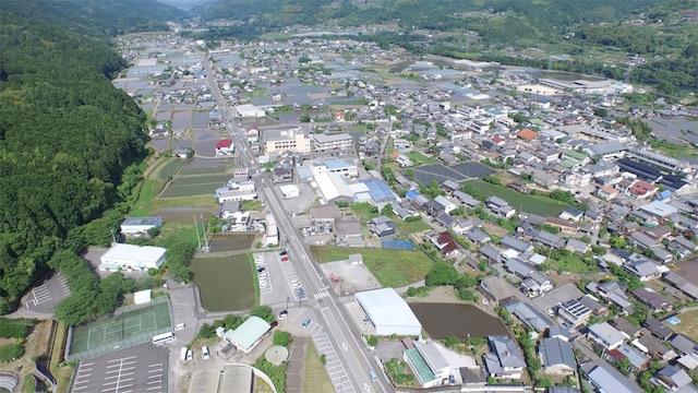 香北町の空撮映像2