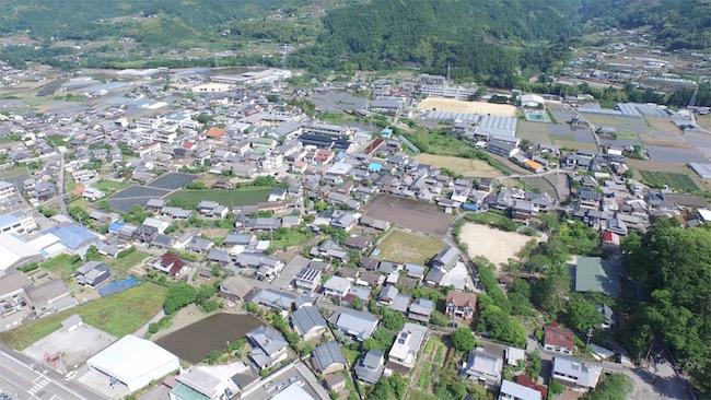 香北町の空撮映像5