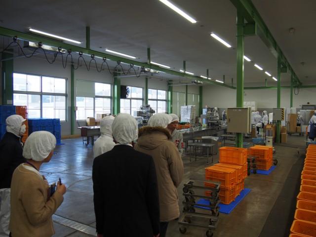 業界屈指の設備を導入した工場を見学