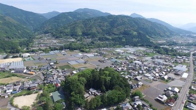 香北町の空撮映像4