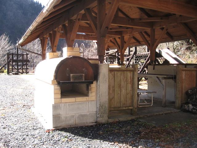 べふ峡温泉のピザ窯