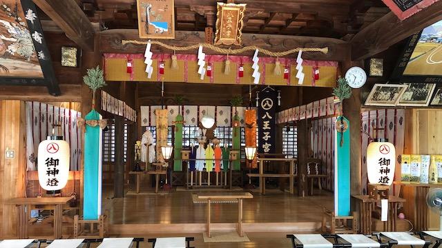 八王子宮拝殿内部