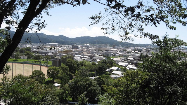 秦山公園展望台景色