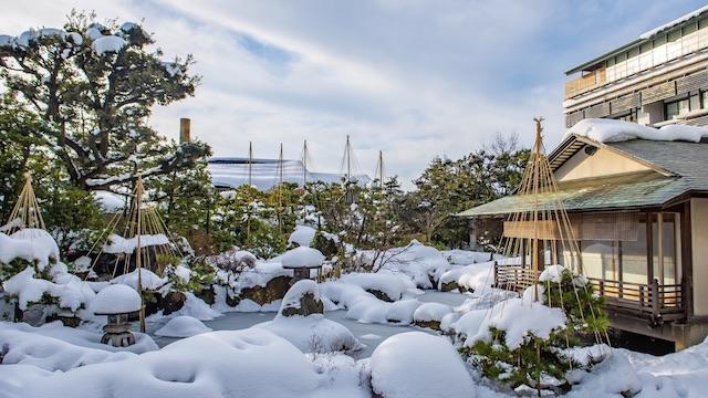 あわら市雪景色