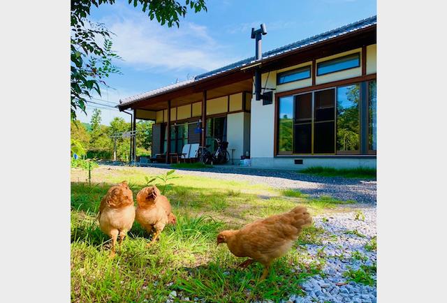 築45年の木造家屋を活かし、外壁や内装をリフォームした。(写真提供:岡崎さん)